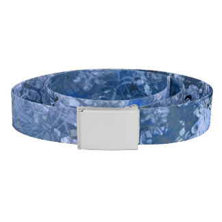 Blue Grunge Collage Belt