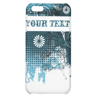 Blue Grunge Floral iPhone 5C Cover