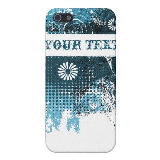 Blue Grunge Floral iPhone 5 Case