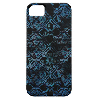 Blue Grunge Medieval Pattern Case For The iPhone 5