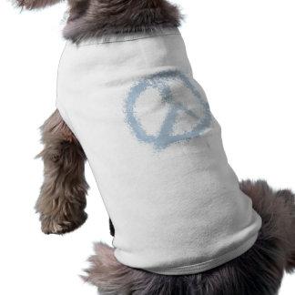 Blue Grunge Peace Sign Doggie T Shirt