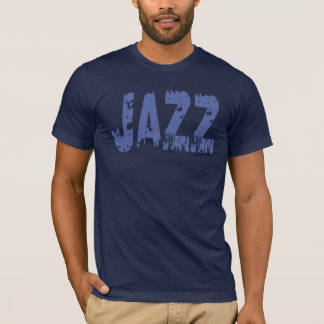 BLUE GRUNGE STYLE JAZZ TEXT T-Shirt