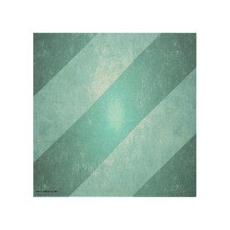 Blue grunged stripes wood prints