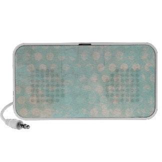 blue grungy dots mini speakers