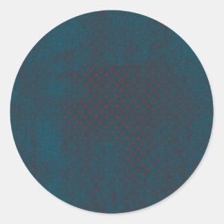 Blue grungy red background round sticker
