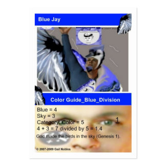 Blue Guide Card Large Business Cards (Pack Of 100)