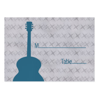 Blue Guitar Grunge Place Card Pack Of Chubby Business Cards