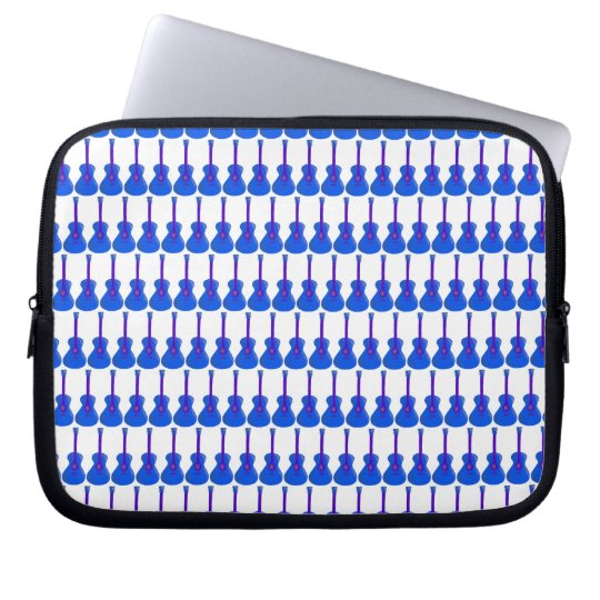 blue guitars laptop tablet device sleeve case