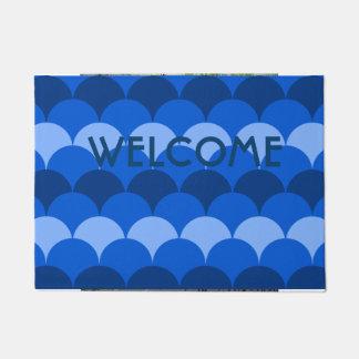 Blue Gumdrop Design Doormat