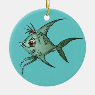 Blue Guppy Fish Christmas Ornament