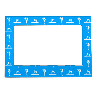 Blue Gymnastics Magnetic Picture Frame