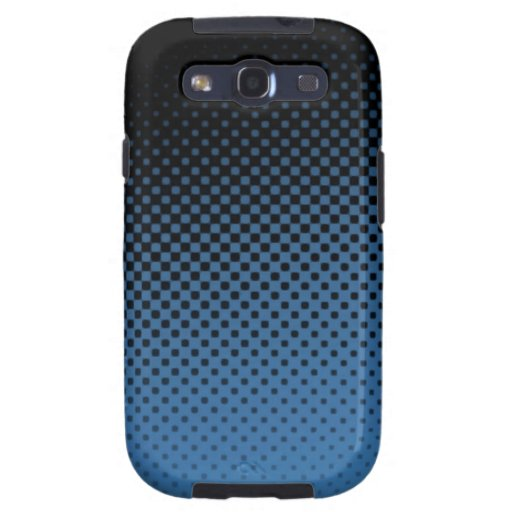 Blue hafltone dot pattern galaxy s3 covers