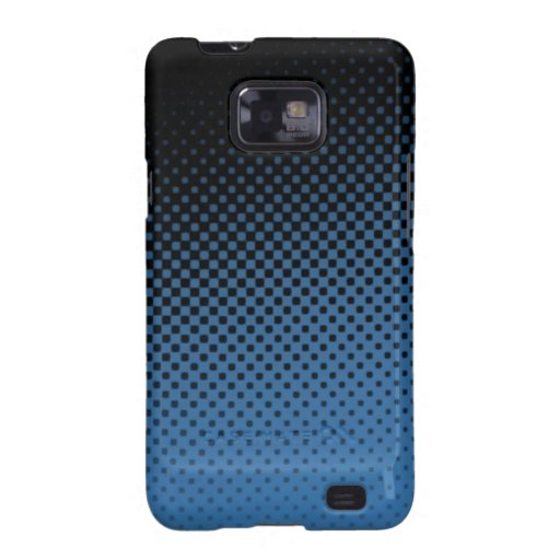 Blue hafltone dot pattern samsung galaxy covers