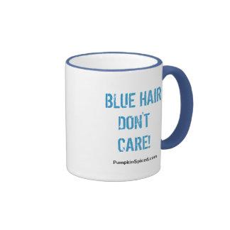 Blue hair don t care mug