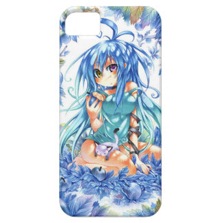 blue hair girl case case for the iPhone 5