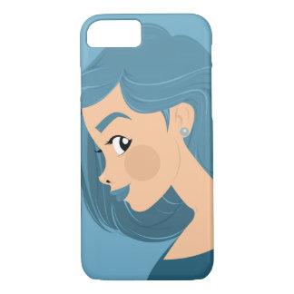 Blue Hair iPhone 7 Case