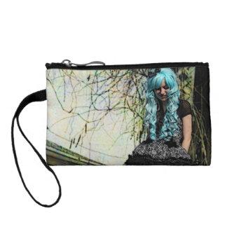 Blue Hair Lolita Girl Clutch Bag Coin Purses