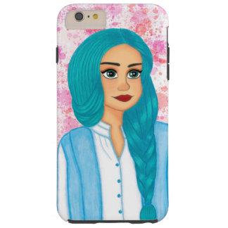 Blue hair tough iPhone 6 plus case