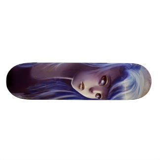 Blue Haired Girl Skateboard Skateboards