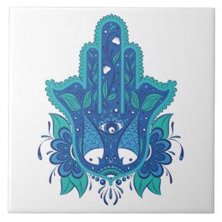 Blue Hamsa Design Tile