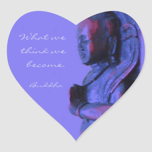 Blue Hand Carved Buddha Sticker