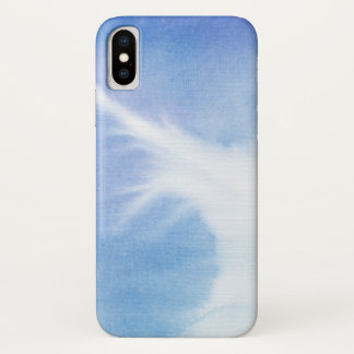 Blue Hand Painted Watercolor | Add Photo 2 iPhone X Case