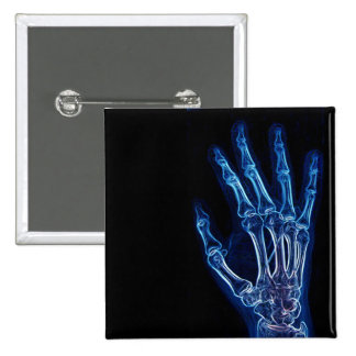 Blue Hand X-ray button