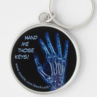 Blue Hand X-ray keychain