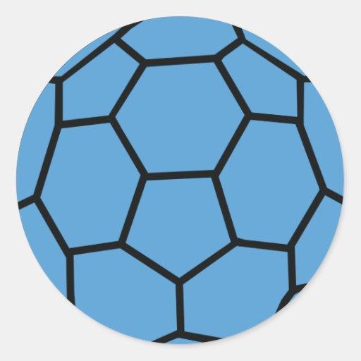 Blue Handball Ball Classic Round Sticker Zazzle
