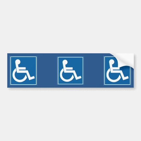 Blue Handicap Sign Bumper Sticker