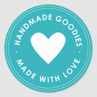 Blue Handmade Goodies Sticker