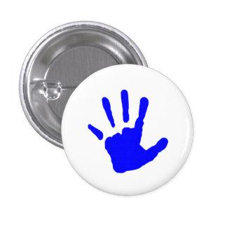 Blue Handprint 3 Cm Round Badge