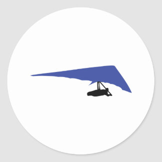 blue hang-glider icon stickers