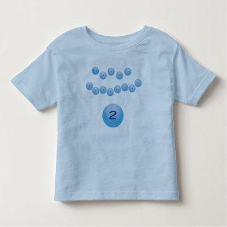 Blue Happy Birthday for Boy Age 2 Tee Shirt