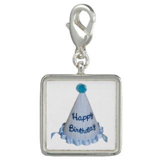 Blue Happy Birthday Hat Charm Bracelet Charm Bracelets