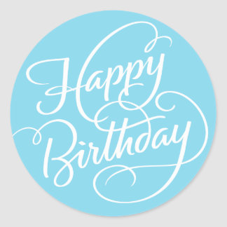 BLUE HAPPY BIRTHDAY | STICKER