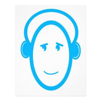 Blue Happy DJ 21.5 Cm X 28 Cm Flyer