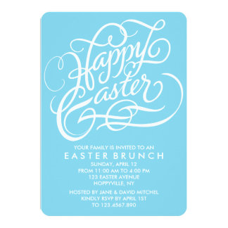 BLUE HAPPY EASTER | EASTER BRUNCH INVITATION
