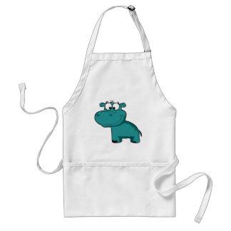 Blue Happy Hippo Standard Apron