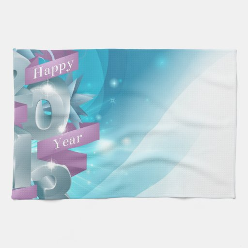 Blue Happy New Year Background Hand Towel