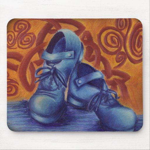 Blue Hard Shoes Mouse Pads