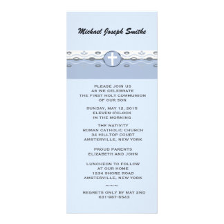 Blue Harmony Slim Invitation 10 Cm X 23 Cm Rack Card