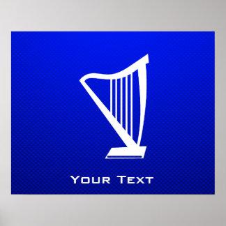 Blue Harp Poster