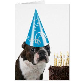 Blue Hat  Birthday Greeting Card