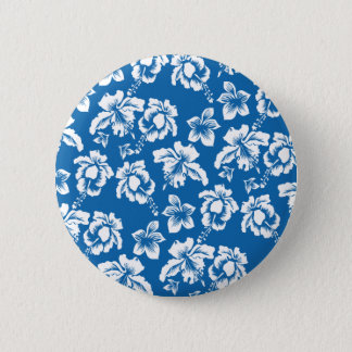 Blue Hawaii 6 Cm Round Badge