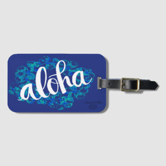 Blue Hawaii Aloha Luggage Tag