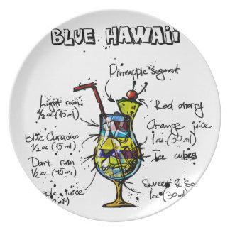 Blue Hawaii Cocktail Recipe Plate