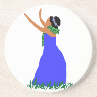 Blue Hawaii  Hula Dancer Coaster