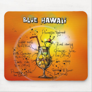 Blue Hawaii Mouse Mat