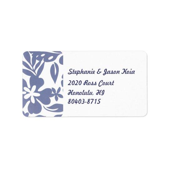 Blue Hawaii Return Address Label
